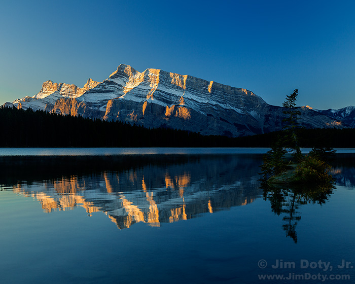 Mt. Rundle and Two Jack Lake, Banff National Park