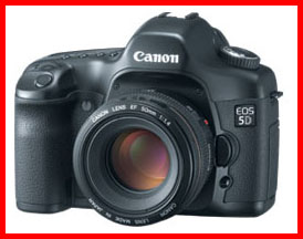 Canon 5D digital-SLR with 12.8 megapixel, full frame sensor