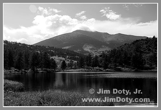 O'Haver Lake and Mt. Ouray (Colorado) in Black and White