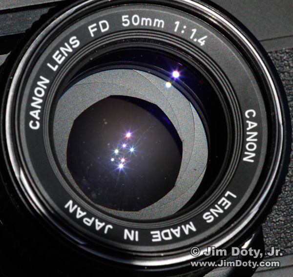 50mm lens set to f/2