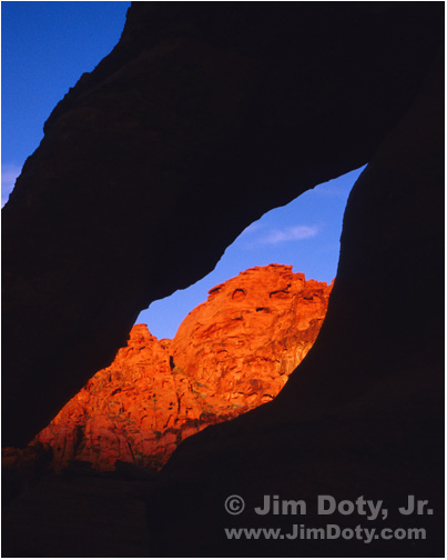 The Window, Valey of Fire State Park, Nevada.  Photo copyright Jim Doty Jr.