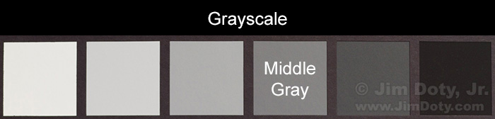 Gtrayscale from a Gretag Macbeth  ColorChecker