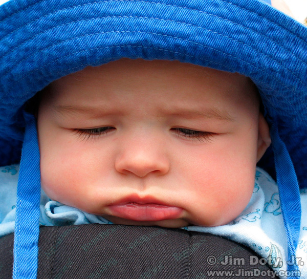 Boy in a blue hat