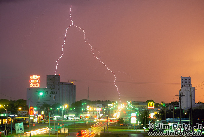Lightning Over Yukon Oklahoma