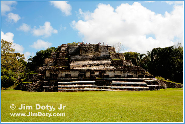 Temple of the Masonry Altars, east side of Plaza B, Altun Ha, Belize. Photo copyright Jim Doty, Jr.